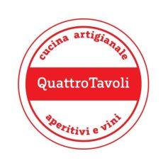 Das Logo vom Quattro Tavoli - ein rot-weißer Kreis mit dem Schriftzug